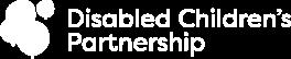 Disabled Childrens Partnership White Logo